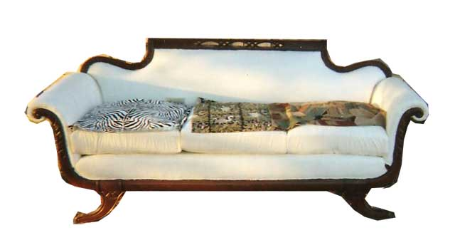Duncan Phyfe Sofa Reupholstered